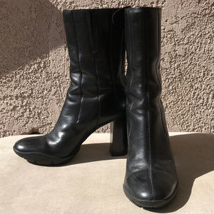 Cole Haan Nike Air G midcalf leather boots sz 8
